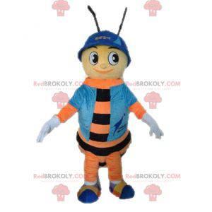 Včelí maskot. Oranžový a černý maskot hmyzu - Redbrokoly.com