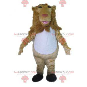 Giant beige and white lion mascot - Redbrokoly.com