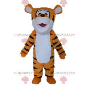 Maskot oranžový bílý a černý tygr. Tygří maskot - Redbrokoly.com