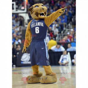 Brown Tiger Maskottchen, das heftig aussieht - Redbrokoly.com