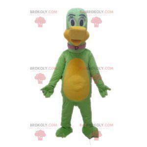 Giant green and yellow dinosaur mascot - Redbrokoly.com
