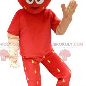 Červené a žluté obří jahodový maskot - Redbrokoly.com