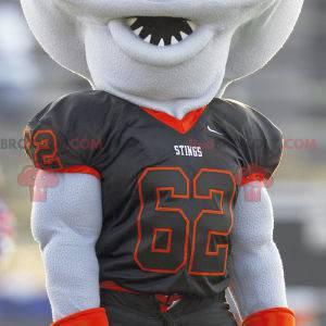 Aquatic stingray mascot in sportswear - Redbrokoly.com