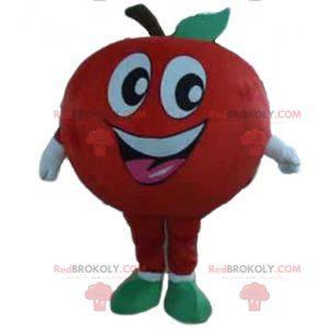 Riesiges und lächelndes rotes Apfelmaskottchen - Redbrokoly.com
