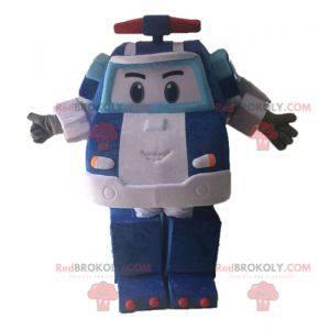 Transformers mascot. Blue car mascot - Redbrokoly.com