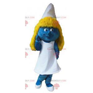 Cartoon famous Smurfette mascot - Redbrokoly.com