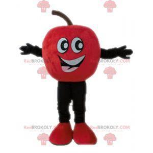 Gigantyczna i uśmiechnięta maskotka czerwone jabłko -