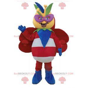 Mascote gigante borboleta colorido e original - Redbrokoly.com