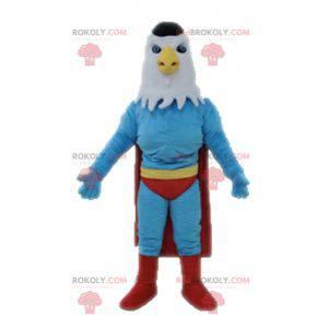 Maskot orla oblečený jako superhrdina - Redbrokoly.com