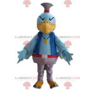 Blå fugl maskot. Fargerik gribmascott - Redbrokoly.com