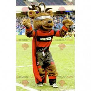 Reinsdyr karibou elg maskot med kappe - Redbrokoly.com