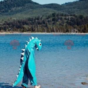Loch Ness Monster Blue Dragon Mascot - Redbrokoly.com