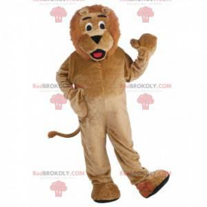 Vollständig anpassbares Maskottchen für braune Löwen -