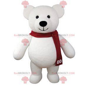 Obří bílý medvídek maskot - Redbrokoly.com