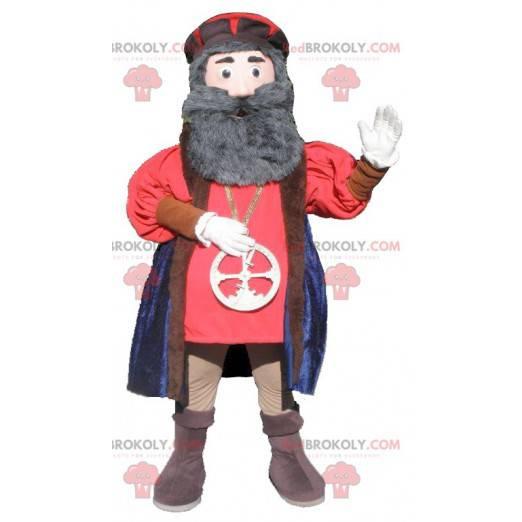 Vousatý muž maskot středověku - Redbrokoly.com