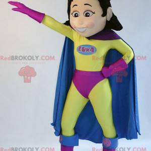 Superwoman superheld vrouw mascotte - Redbrokoly.com