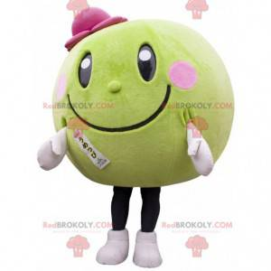 Kulatý a zelený meloun meloun maskot - Redbrokoly.com