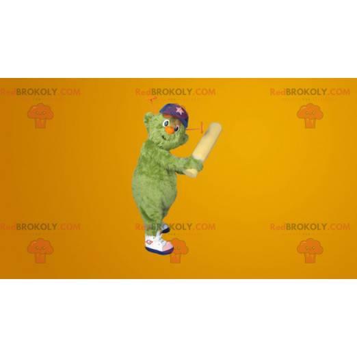 Všechny maskot zelený chlupatý sněhulák - Redbrokoly.com
