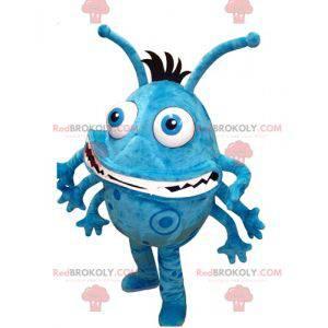 Modré a bílé bakterie monstrum maskot - Redbrokoly.com