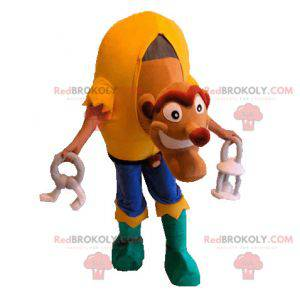 Monster hunchback mascot with a colorful outfit - Redbrokoly.com
