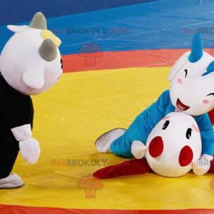 3 horned beast goat mascots - Redbrokoly.com