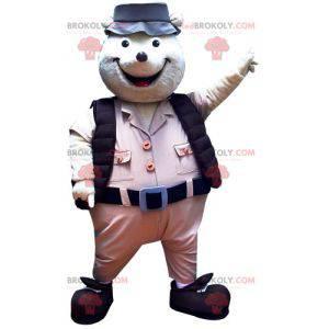 Krtek maskot v průzkumník oblečení - Redbrokoly.com
