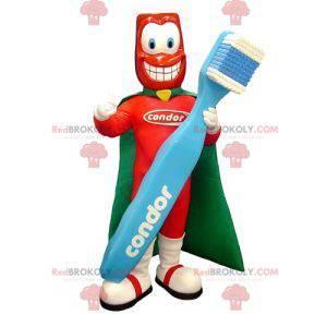 Superheltmaskot med en gigantisk tannbørste - Redbrokoly.com