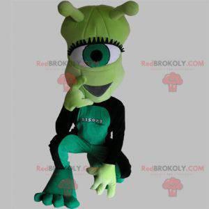 Velmi zábavný zelený kyklop mimozemský maskot - Redbrokoly.com