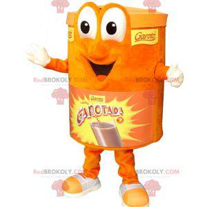 Oranžový box maskot. Maskot čokoládový nápoj - Redbrokoly.com