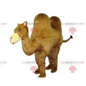 Zeer mooie en realistische gigantische kameelmascotte -