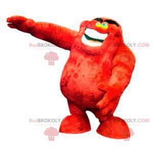 Měkký a vtipný chlupatý červený monstrum maskot - Redbrokoly.com