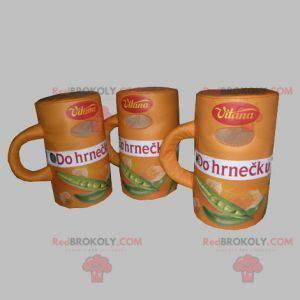 3 suppemaskoter. 3 suppeskåler - Redbrokoly.com