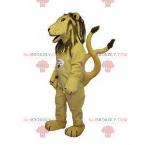Maskotka lwa tygrysa w kolorze żółtym i brązowym -