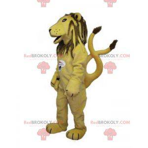 Yellow and brown tiger lion mascot - Redbrokoly.com