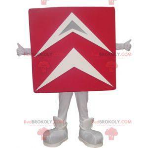 Giant red and white Citroën mascot - Redbrokoly.com