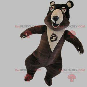 Bardzo zabawna brązowo-beżowa maskotka miś - Redbrokoly.com