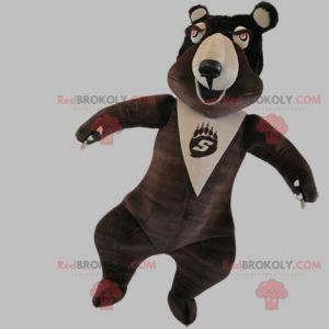 Velmi vtipný hnědý a béžový medvěd maskot - Redbrokoly.com