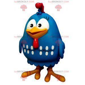 Maskottchen Riesen Hühnervogel blau weiß und rot -
