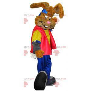 Maskott av den berømte Nesquick-kaninen. Brun kanin maskot -