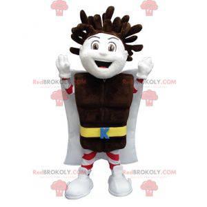 Chlapecký maskot Kapo Chocolate s čokoládovou tyčinkou -