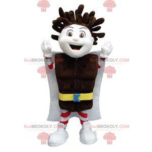 Kapo Chocolate boy mascot with a chocolate bar - Redbrokoly.com