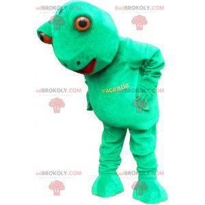 Riesiges und lustiges grünes Froschmaskottchen - Redbrokoly.com