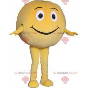 Giant yellow ball mascot. Round mascot - Redbrokoly.com