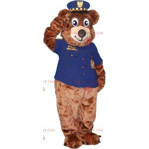 Braunbärenmaskottchen im Sheriff-Outfit - Redbrokoly.com