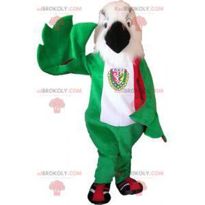 Orel maskot zelená bílá a červená - Redbrokoly.com