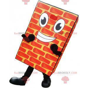 Realistický a usměvavý obří cihlový maskot - Redbrokoly.com