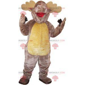 Very realistic brown and beige elk mascot - Redbrokoly.com