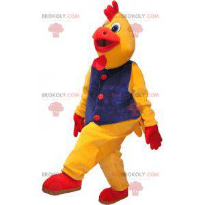 Gigantyczny żółty i czerwony kogut maskotka kogut przebranie