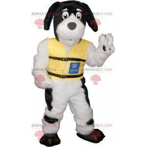 Biały pies maskotka z czarnymi plamami - Redbrokoly.com