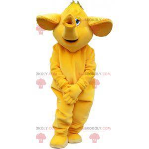 Obří slon maskot celý žlutý - Redbrokoly.com